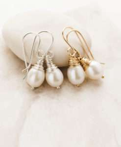 pearl bridal earrings