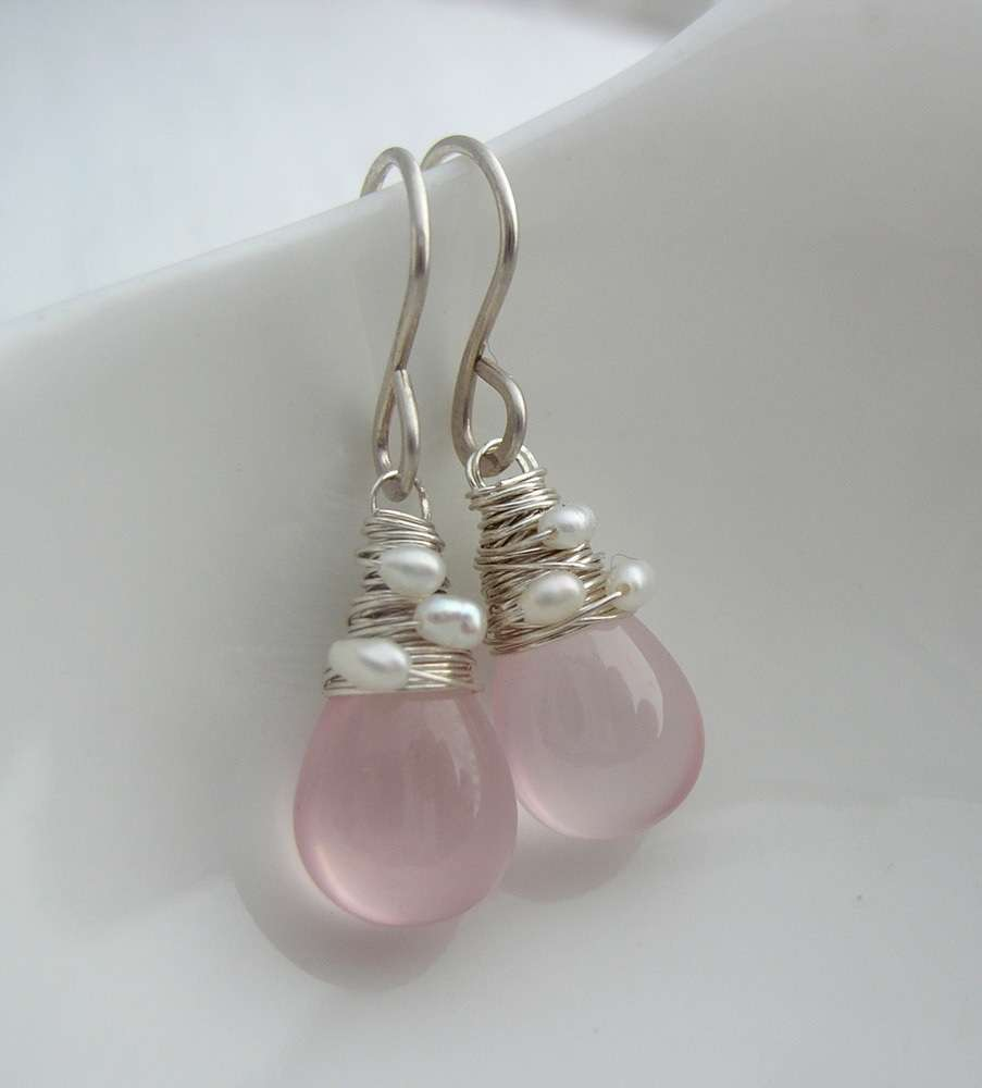 8223ae1a7 Smooth Rose Quartz Drops - Sarah Hickey Jewellery