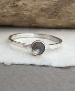 Labradorite Solitaire Ring