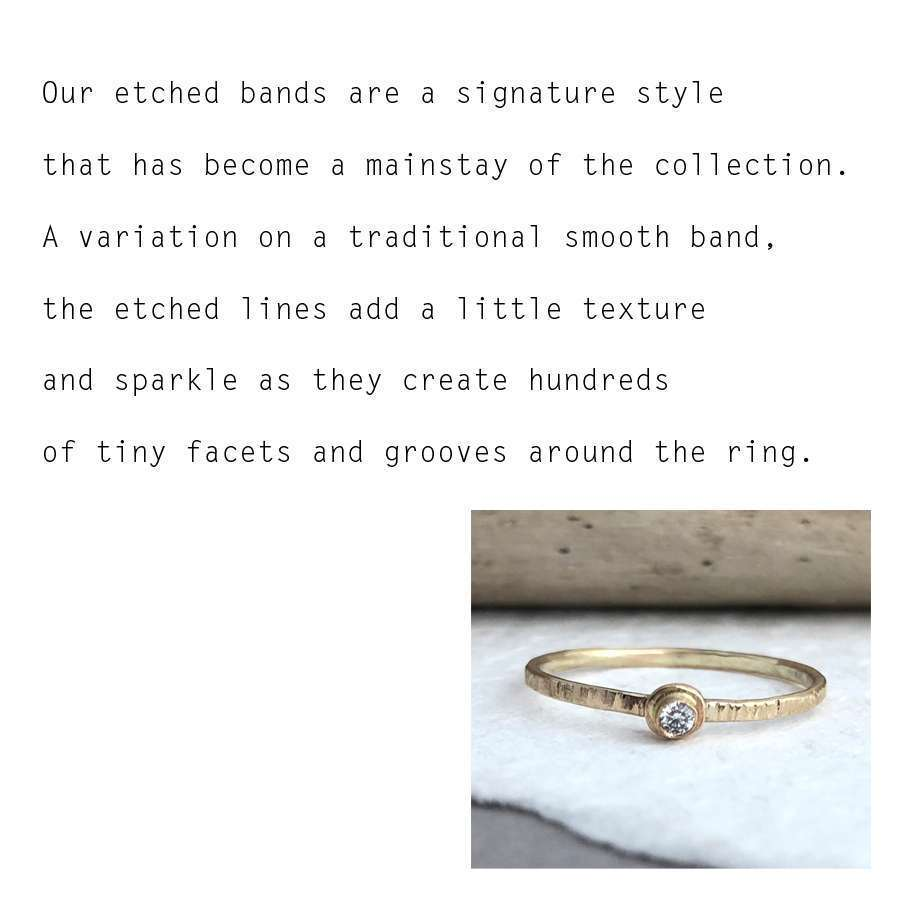 Etched Bands Sarah Hickey Jewellery