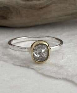salt and pepper diamond ring uk