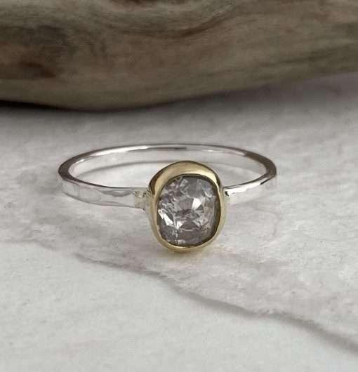salt and pepper diamond ring uk